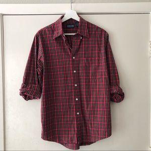 Vintage Land's End Tartan Plaid Shirt